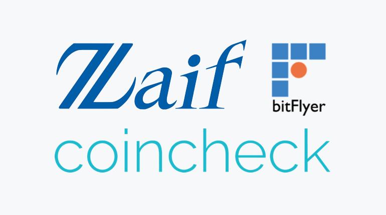 bitFlyer Zaif Coincheck logo